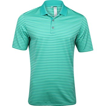 Adidas performance 3 color stripe polo shirt shock mint for Mint color polo shirt