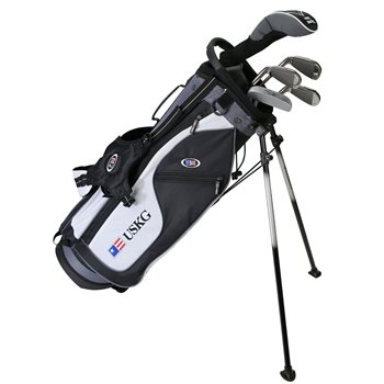 US KIDS U/L 57 Black/White/Grey Junior Left-Handed Club Set in New  ConditionUS KIDS U/L 57 Black/White/Grey Club Set
