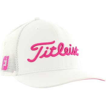 Titleist Pink Out Tour Snapback Mesh Hat - White PinkTitleist Pink Out Tour Snapback  Mesh Headwear b02f4f7053e